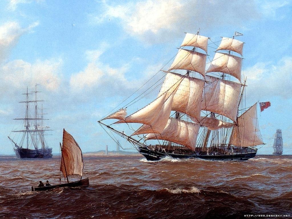 济沧海--手绘帆船