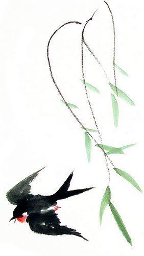 桃花叶子简笔画图片